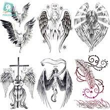 LC539-904 Body Art Halloween Sketch Angel Large Jesus Wolf Christmas Tatoo Sticker Designer Temporary Flash Tattoo Stickers Taty printio jesus wolf