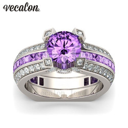 Vecalon luxury female engagement ring purple 5a zircon cz 925 sterling silver birthstone wedding band ring.jpg 250x250