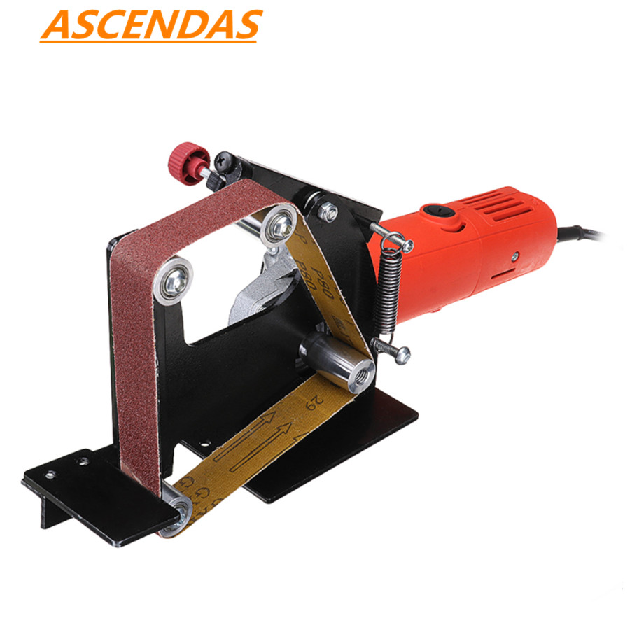 Angle Grinder Belt Sander Attachment Metal Wood Sanding Belt Adapter Use 100 Angle Grinder TP 0168