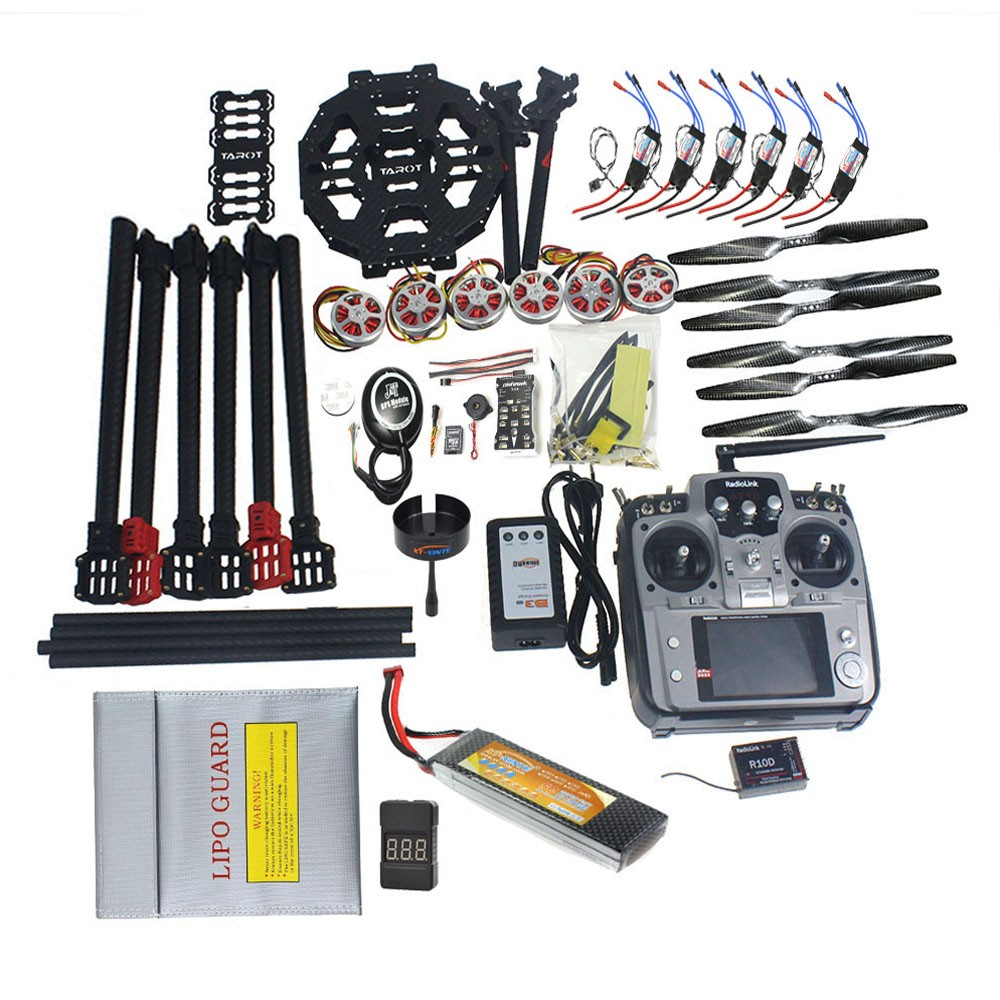 ARF/PNP Full Set Hexacopter GPS Drone Aircraft Kit Tarot FY690S Frame 750KV Motor PIX 2.4.8 32 Bit Flight Controller F07803-C f07803 b quadcopter drone 6 axis aircraft kit tarot fy690s frame 750kv motor gps apm 2 8 flight control no battery transmitter