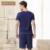Qianxiu Conjuntos de Pijama de Algodão Para Homens de Manga Curta de Malha Salão Desgaste Homewear Casuais