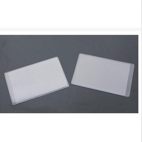 10p pcs dustproof clear card holders 96x6cm soft plastic credit card protectors bussiness card cover id holders in card id holders from luggage bags on - Plastic Credit Card