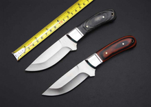 2 Options! Elaborate K91 Camping Survival Fixed Knives,5Cr13Mov Blade Color Wood Handle Small Hunting Knife.