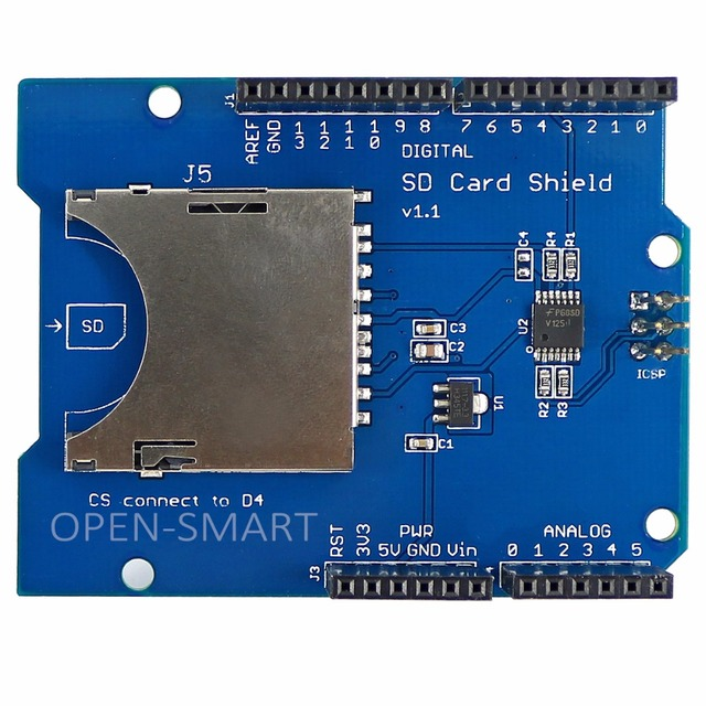 SD/TF Card Khiên Board Mở Rộng Bộ Nhớ Khiên Đun đối với Arduino