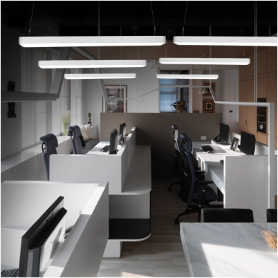 modern minimalist aluminum LED pendant light fixture office creative acrylic pendant lamps  modern led conical pendant light aluminum