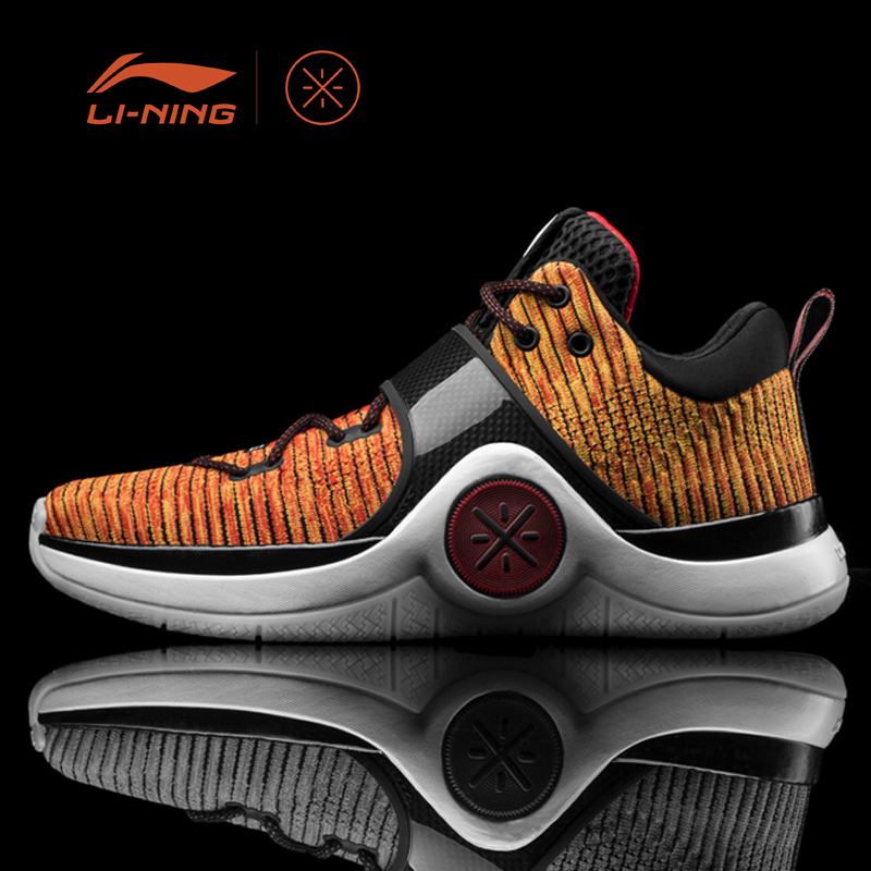 Li-Ning Men WOW 6 'Pumpkin' Basketball Shoes Cushion Sneakers Li-Ning Cloud Support LiNing Sports Shoes ABAM089 XYL130 li ning original men sonic v turner player edition basketball shoes li ning cloud cushion sneakers tpu sports shoes abam099
