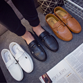 Vintage Bowtie Round Toe Casual Shoes Men Leisure Shoes Luxury Brand Loafers Moccasins Spring Autumn Men Slip On Flat Shoes