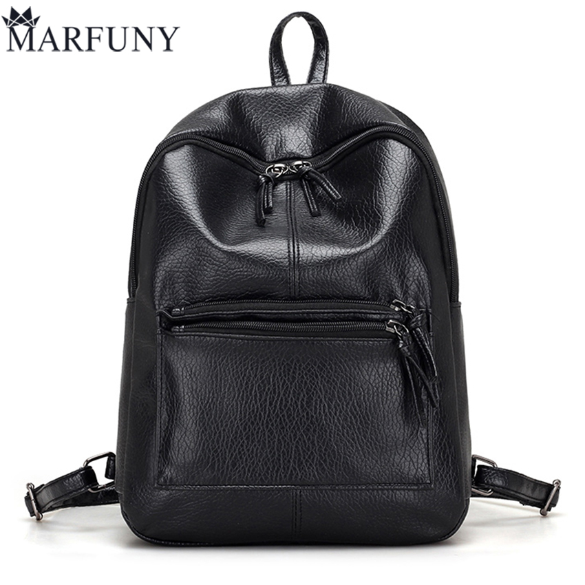 Hot Sale Pu Leather Backpack Women Backpack Fashion Black Backpacks For Teenage Girls School Bags Famous Brand Women Bag Mochila annmouler famous brand women leather backpack alligator backpacks high quality elegant shoulder bag black school bag for girls