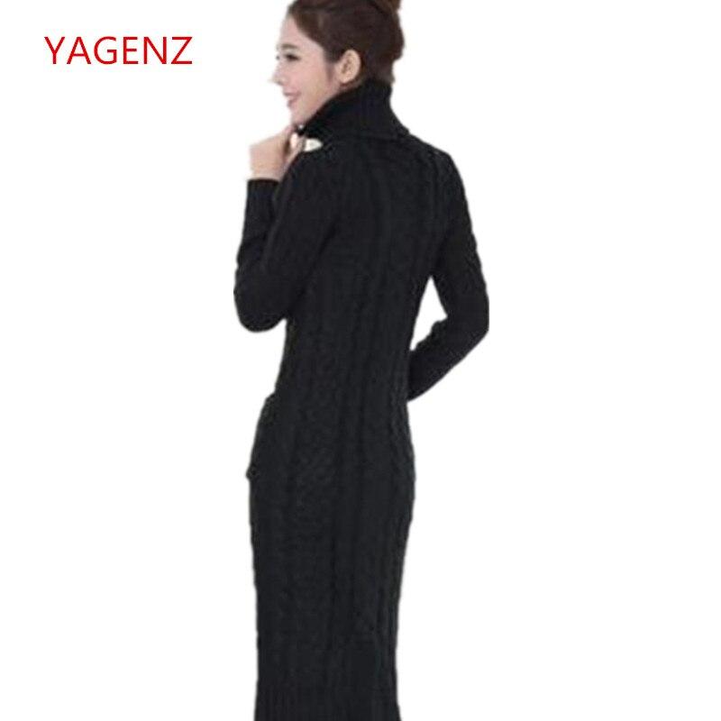 3cff432a4e9611 YAGENZ Jonge vrouwen Winter Trui Grote maat Trui NEW100 % Top kwaliteit  Vrouwelijke Gebreide jurk Vrouwen Hoge kraag trui B2145 in YAGENZ Jonge  vrouwen ...