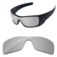 eaa31aaf61c27 Policarbonato-cromo espejo de plata reemplazo de lentes para Batwolf gafas  de sol marco 100% UVA y UVB protección