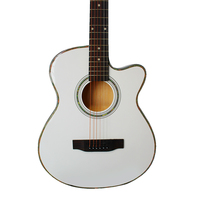 Diduo white guitars 40 inch Acoustic Guitar Rosewood Fingerboard guitarra with guitar strings Ultrathin 6.5cm with hardcase