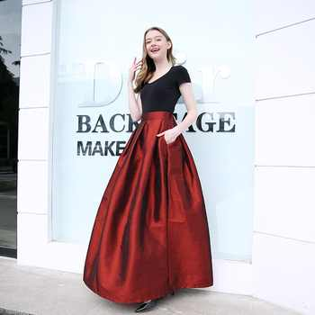 2019 Fashion Long Skirts Women Faldas High Waist Pleated Womans Floor Length Skirt Plus Size Elastic Elegant Ladies Jupe Skirts - DISCOUNT ITEM  47% OFF All Category