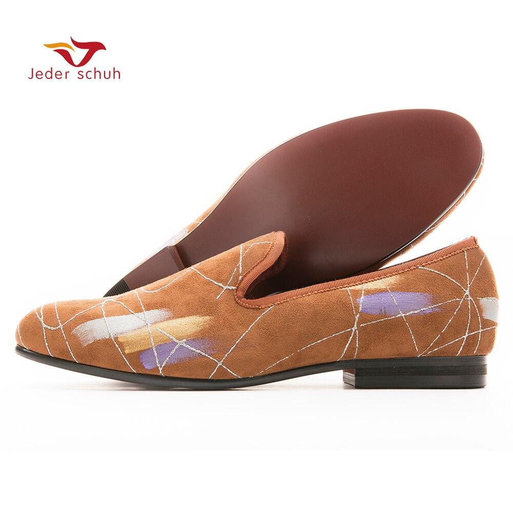 De luxe À La Main d'encre peinture style Hommes casual chaussures Hommes Plus Taille Mocassins Hommes Appartements de Taille NOUS 6-14 livraison gratuite