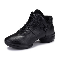 New Leather Shoes Autumn Dance Modern Dance In The Square Dance Shoes Lady Soft Bottom Jazz