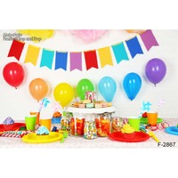 Birthday party Baby Shower Photography Background For Studio Photo Vinyl Photographic Backdrops cloth F 2867