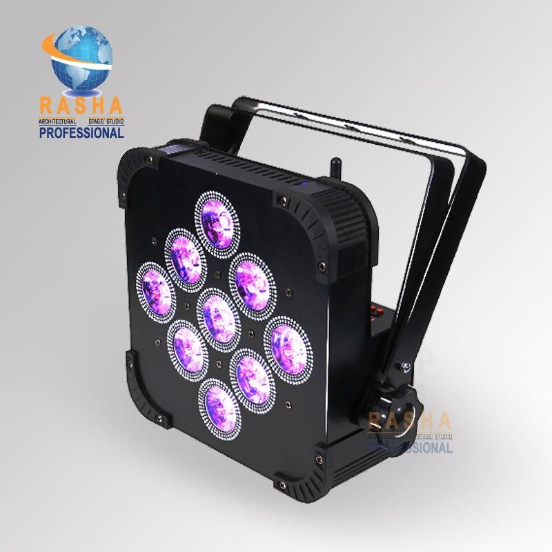 все цены на Hex Rasha 9*18W Wireless 6in1 RGBAW UV LED Slim Par Can LED Flat Par Projector For Disco Event Party Stage Lighting Equipement онлайн