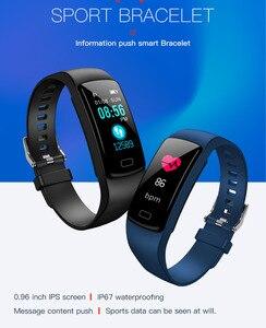 Image 3 - Banda inteligente pulseira Heart Rate monitor de pressão arterial à prova d água esportes de Fitness Rastreador smart watch para andriod ios moda Quente