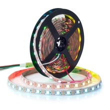 DC5V WS2812 30 leds/m Smartled pixel RGB individually addressable led strip light White PCB IC strips with RF controller