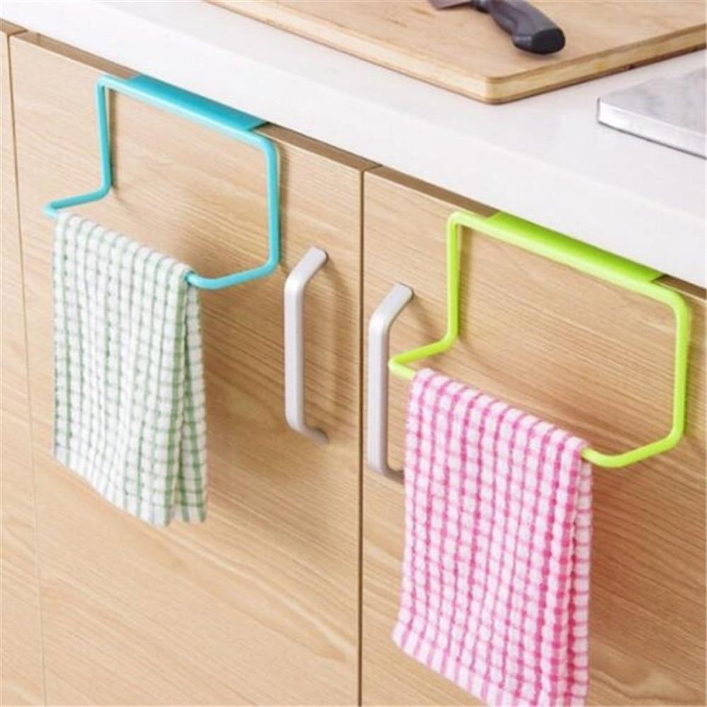 Towel Rack Bar Hanging Holder Rail Organizer Bathroom Cabinet Cupboard Hanger Kitchen Accessories Storage Rack Holder