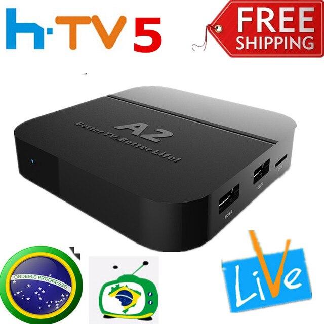 [Genuine] HTV BOX htv5 H.TV5 box Brazilian Portuguese Internet IPTV TV Box KODI Live Brazilian TV HD Streaming Box VS htv3