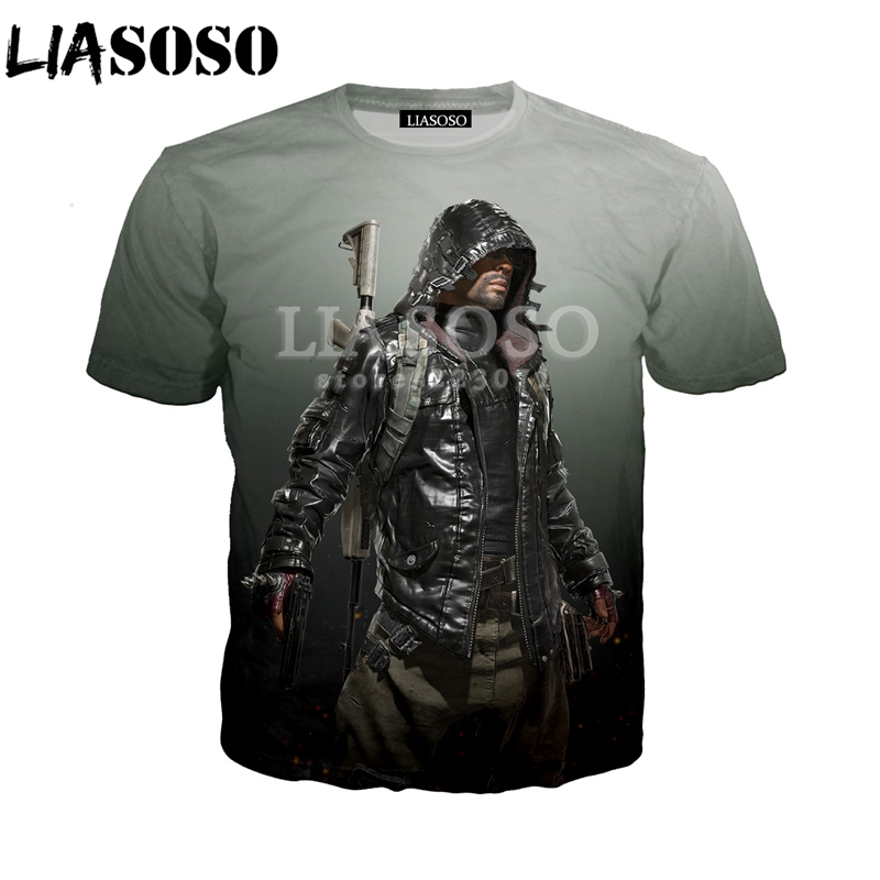 LIASOSO Summer New Mens/Womens Short Sleeve T-Shirt 3D Print Stimulate Video Game Jedi Survival Fashion Funny Hip-hop Top A022