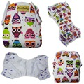 JinoBaby Cute Owl Swim Diaper Snaps Washable Diapers Adjustable Swimming Baby Diapers Cover for 10lbs to 38lbs