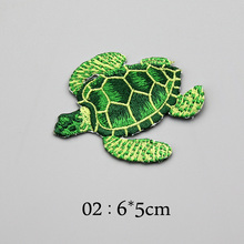 2 Pieces Tortoise Turtles Embroidered Iron On Patch Sewing On Animal Applique