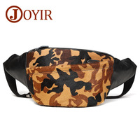 Genuine Leather Men Waist Packs Camouflage Chest Bags Belt Bag Phone Pouch Bags Travel Waist Pack Male Waist Bag Leather Pouch