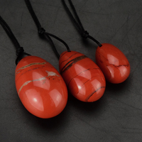 3pcs Set Natural Red Jasper Yoni Egg Kegel Exercise Spheres Smooth And No Crack