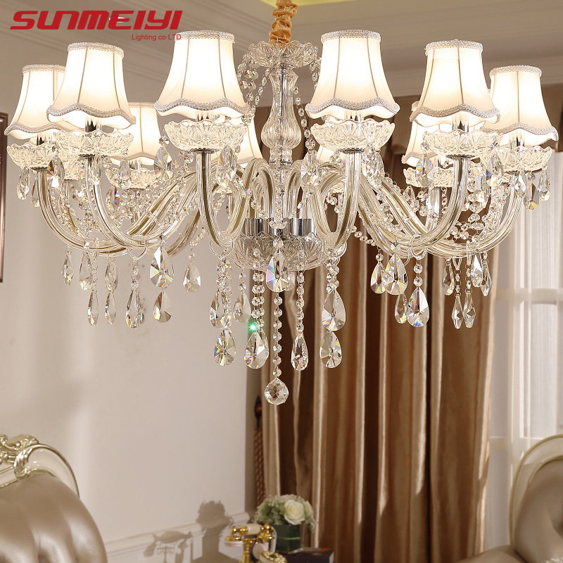 Us 87 17 36 Off Modern Led Crystal Chandeliers Lighting Fixtures Luxury Re De Cristal Lights For Living Room Bedroom In