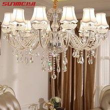 hot deal buy modern led crystal chandeliers lighting fixtures luxury lustre de cristal lights chandeliers for living room bedroom