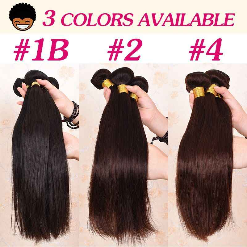 Aliafee #1b/#2/#4 Color Brazilian Straight Hair Bundles With frontal Baby Brazilian Hair Bundles Weave 100% Human Hair Non Remy
