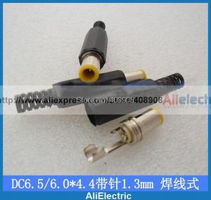100 stücke OD/ID 6,5mm x 4,4mm mit 1,3mm pin Stecker Solder DC Power Barrel Tip Steckverbinder Adapter Löten typ CCTV ladegerät