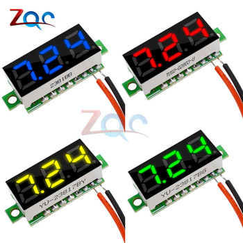 0.28 inch DC 12V 24V Mini LED Digital Voltmeter Voltage Meter Panel Volt Tester Detector Monitor 2 Wire Red Green Blue Yellow