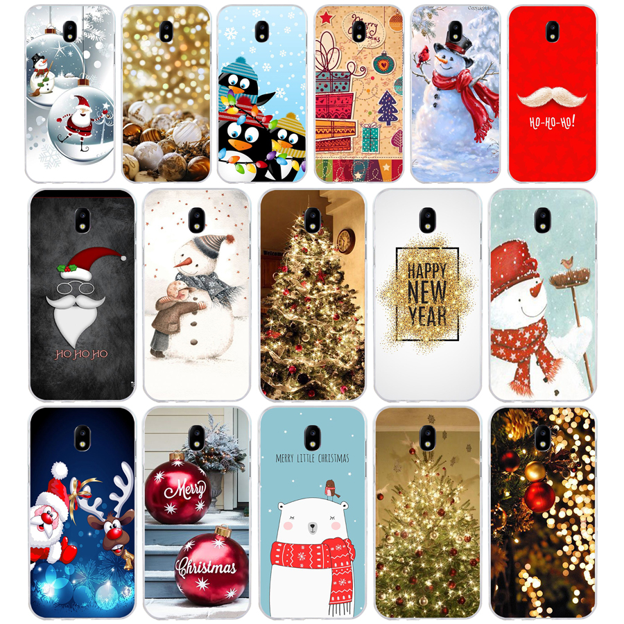 266H happy New Year merry Christmas Soft Silicone Tpu Cover <font><b>phone</b></font> <font><b>Case</b></font> for <font><b>Samsung</b></font> j3 j5 j7 2016 <font><b>2017</b></font> a3 2016 <font><b>a5</b></font> <font><b>2017</b></font> a6 2018 image
