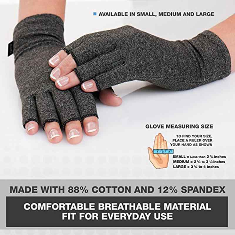 Крепление 1 пара Высокая эластичность Half-finger походные теплые перчатки ревматизм Reliver артрит варежки медицинские вспомогательные
