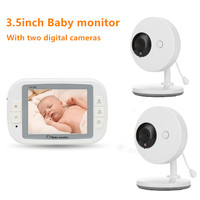 Wireless Video Baby Monitor 3.5inch Baby Monitor With Two Baby Camera Nanny Security Night Vision Camera Video Monitoring