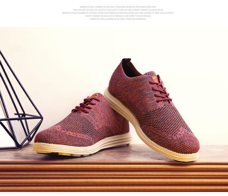 2019 Summer New Vintage Men Casual Shoes Men Business Formal Brogue Weave Carved Oxfords Wedding Dress Shoes Breathable