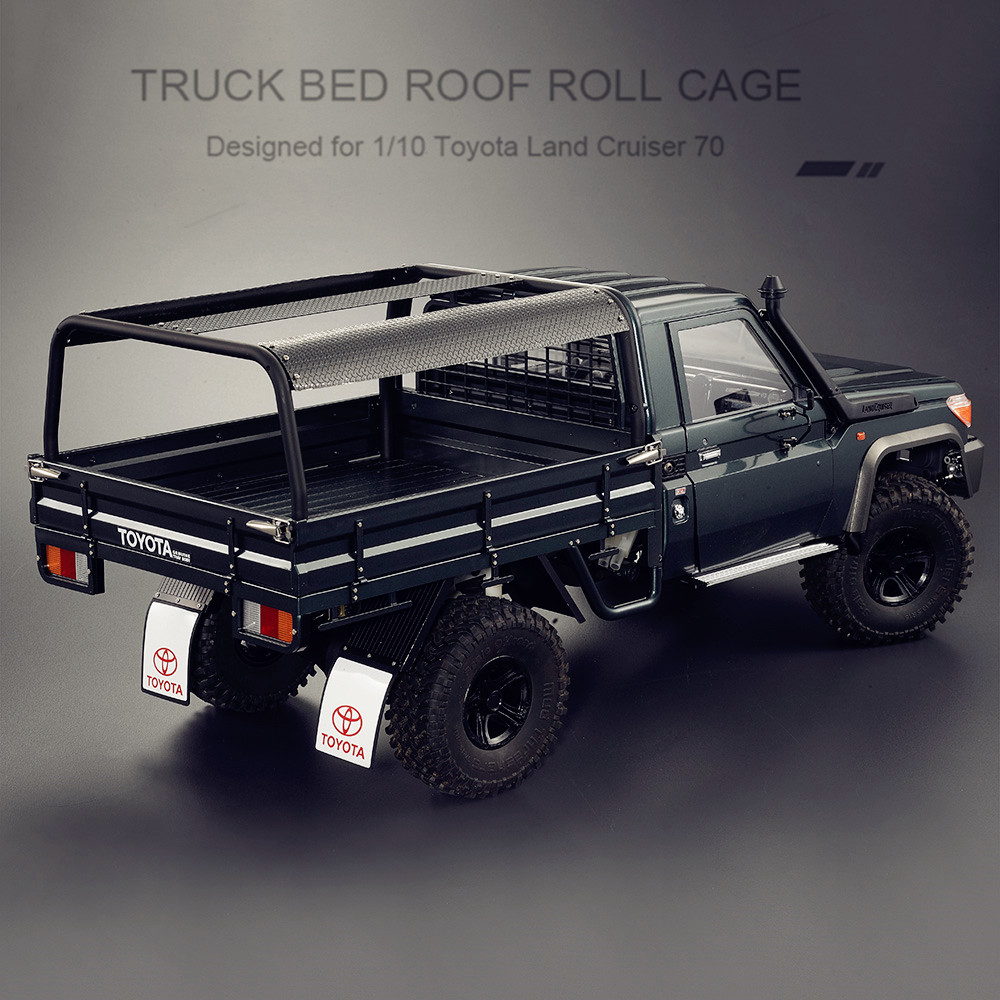 RC Car Bed Roof Roll Cage for 1:10 Toyota RC Truck Land Cruiser 70 KB48667 Trucks Bed Set willys jeep 1 10