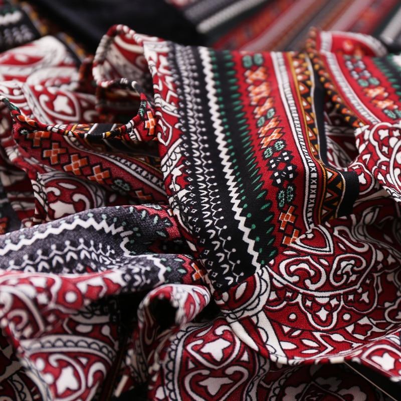 Completa 2019 Cuello Mujeres Primavera longitud De Samgpilee Moda Línea Llegada L La Las Rodilla Impresión Natural Nueva 3xl Apliques Red Vestido Manga qr0wq6A