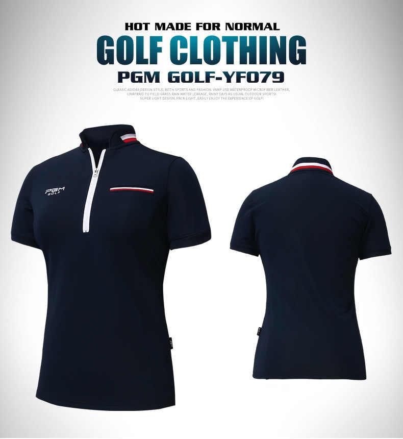 PGM Golf sukienka Ladies Golf koszulka z krótkim rękawem lato wentylowane Golf krótki Polo damskie