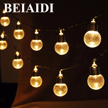 BEIAIDI Outdoor Solar 10pcs 20pcs 30pcs Globe Ball LED Fairy String Light Garland Christmas Wedding Party Garden Patio Light