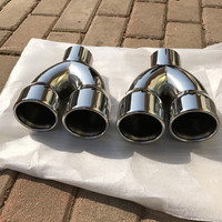 Automobile exhaust pipe modified tail laryngeal One divides into two for BMW 320li X3 X1 E90 E92 318316535 1pcs