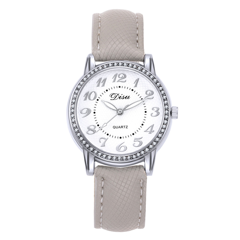 2018 Top luxe dames quartzhorloge merk mode casual leer - Dameshorloges