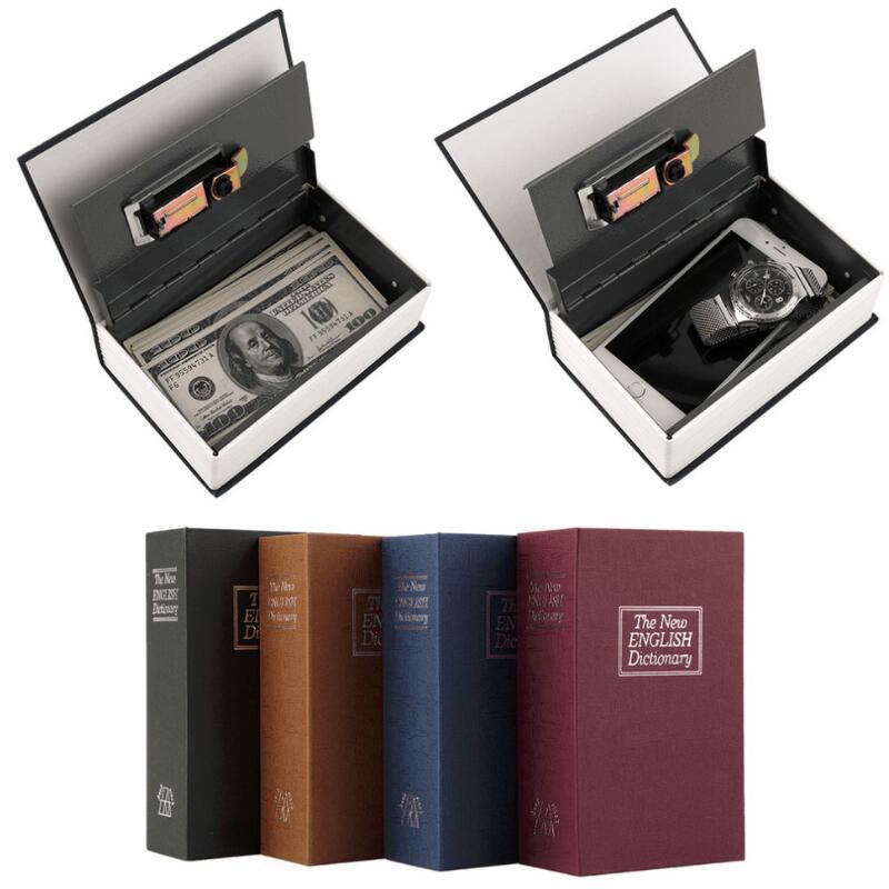 Dictionnaire Coffre-fort Secret Livre Argent Caché Serrure De Sécurité Fort Cash Money Coin De Stockage Bijoux Mot de Passe Casier Pour Kid Cadeau