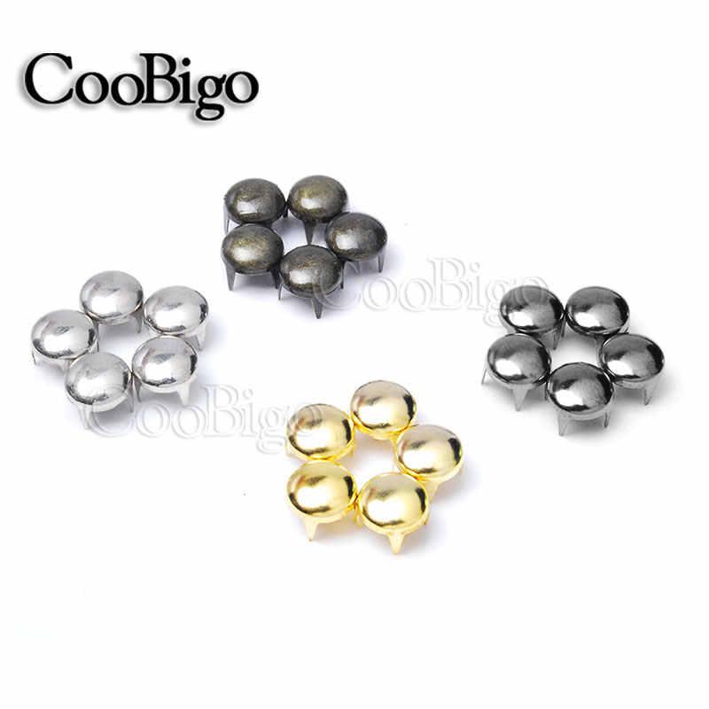 100 piezas. remaches de domo redondo de 8mm con puntos de tachuelas de clavos Punk Rock artesanía de cuero para zapatos bolsa de ropa piezas Decoración