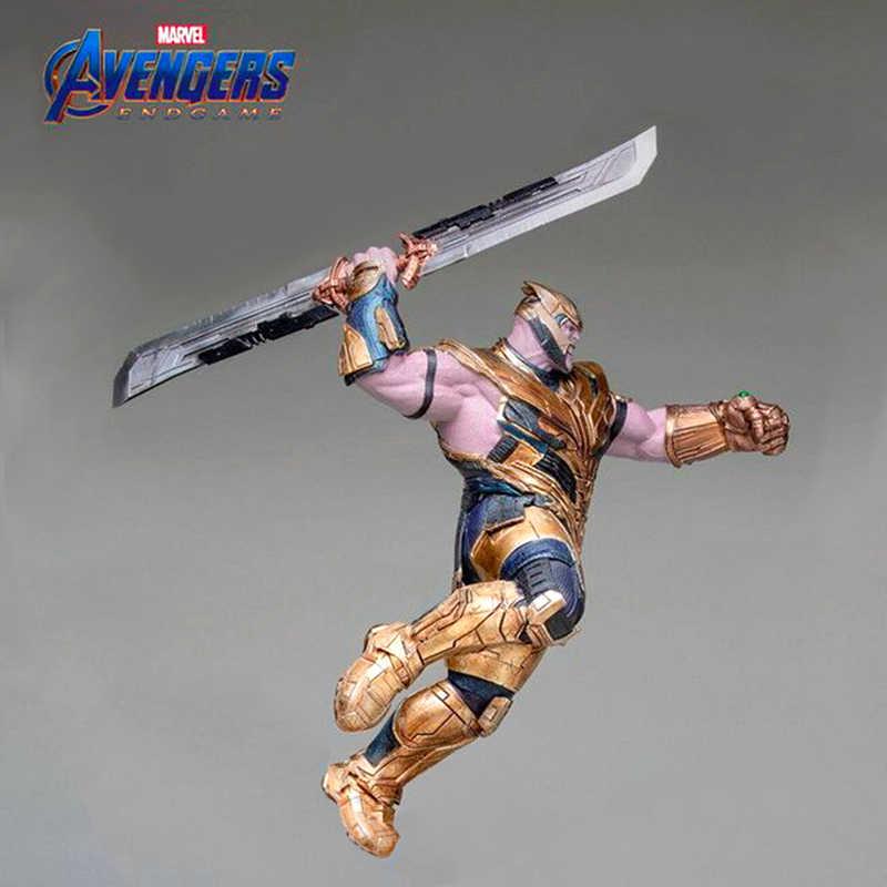 Sg novo marve l vingadores 4 endgame thanos espada chaveiros homem de ferro infinito potência gauntlet llavero thor loki armas filme keyring