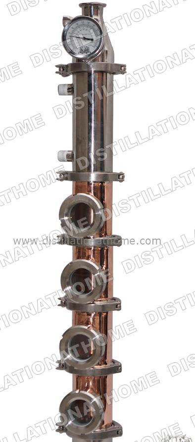 Home Water Distiller 3 copper column 4pcs copper bubble plates