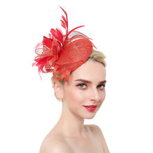 Fashion Feather Fascinator Hat Hair Clip Women Cocktail Wedding Party Bridal Ladies Dress Prom Headband