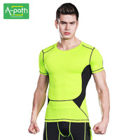 A Path Mens Running Cycling T Shirt Sport Fitness Training Tights Sportswear Marvel Underwear Jersey Jogging